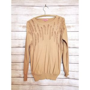 ⚡Betsy Johnson⚡Sweater⚡Creamy Orange